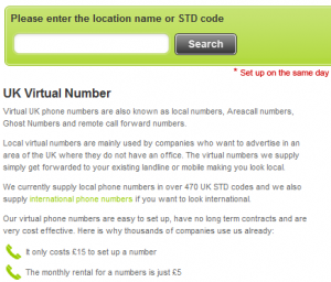 UK local number